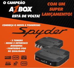 RECEPTOR AZBOX SPYDER 3 TUNNERS ACM VOD IPTV H265