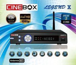 RECEPTOR CINEBOX LEGEND X 3D IPTV ON DEMAND WIFI