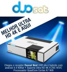 RECEPTOR DUOSAT NEXT UHD NETFLIX YOUTUBE 4K ACM IPTV