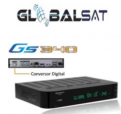 RECEPTOR GLOBALSAT GS 340 FTA IPTV 3 TUNNERS