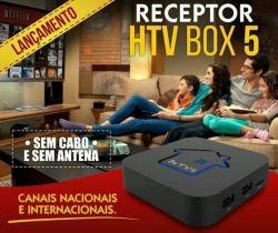 RECEPTOR HTV BOX 5 ULTRA FULL HD FILMES EM 4K WIFI NÃO PRECISA DE CABOS NEM ANTENA